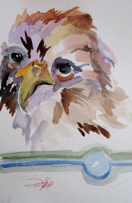 Art: Hawk 9x6 by Artist Delilah Smith
