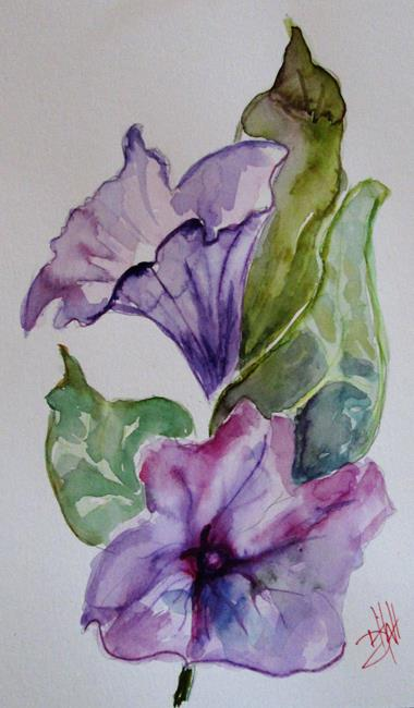 Art: Petunia 9x6 by Artist Delilah Smith
