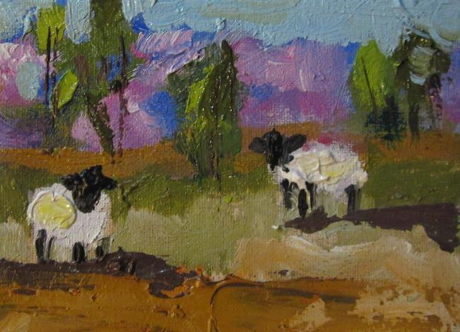 Art: Sheep in Pasture by Artist Delilah Smith
