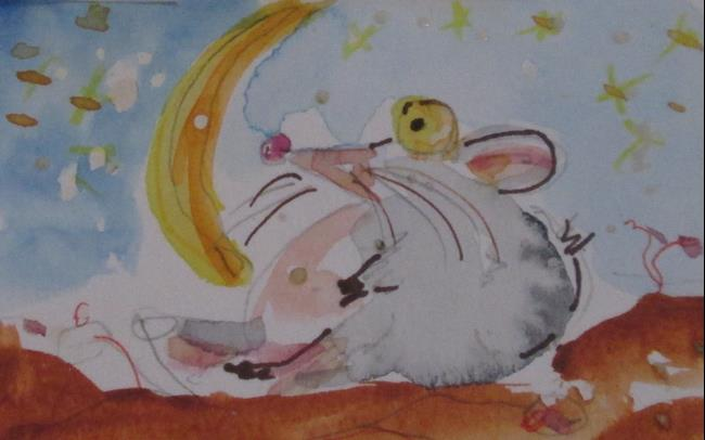 Art: Stargazer Mouse by Artist Delilah Smith