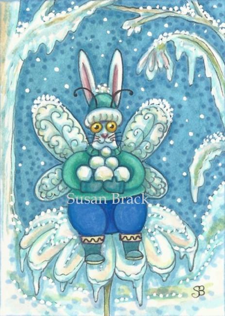 Art: FLUTTERBUN WINTER WONDERLAND by Artist Susan Brack