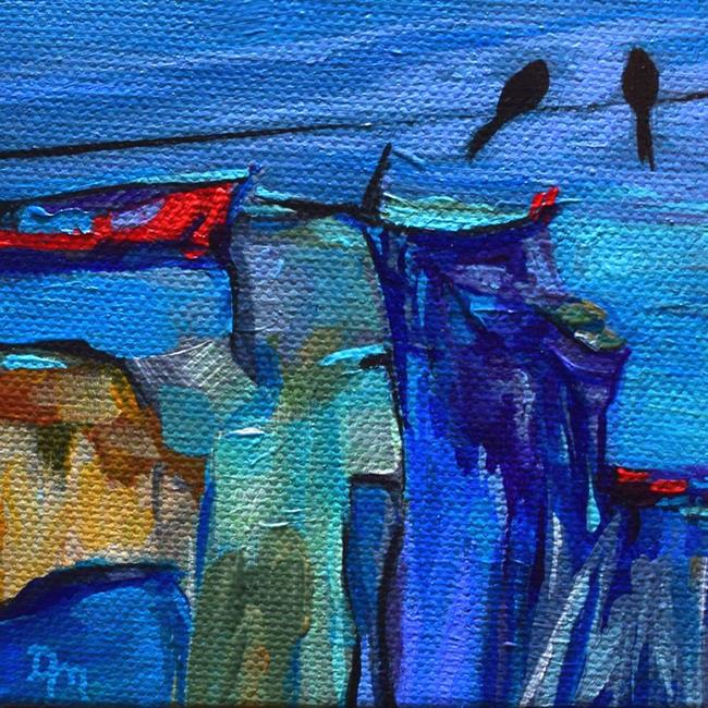 Art: Sightseeing ~ Birds on a Wire Series by Artist Dana Marie