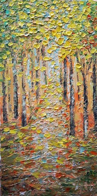 Art: BIRCH TREES by Artist LUIZA VIZOLI