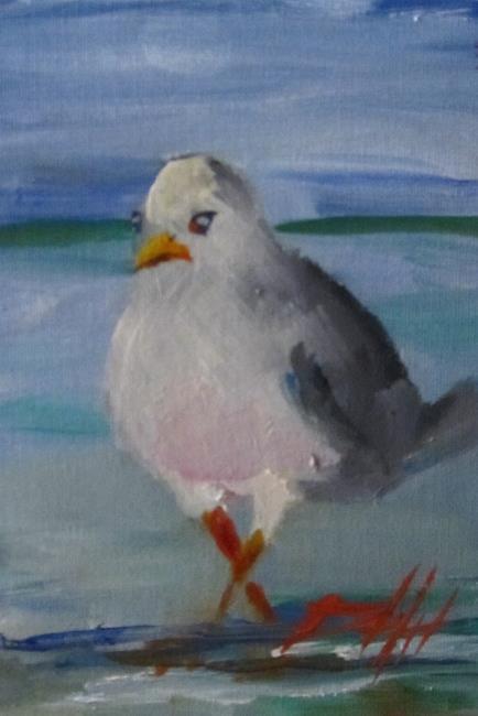 Art: Beach Gull by Artist Delilah Smith