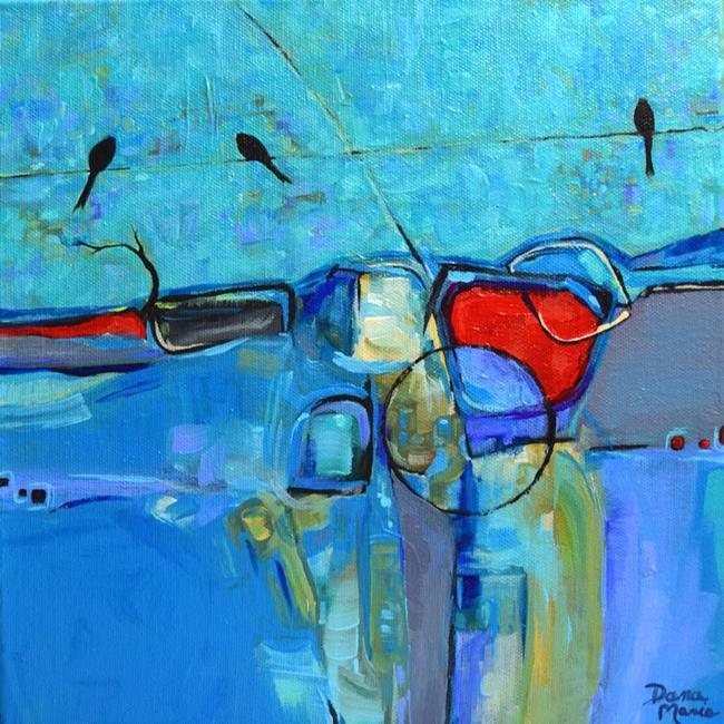 Art: Go Boldly ~ Birds on a Wire Series - Sold by Artist Dana Marie