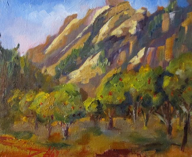 Art: Apple Orchard Sedona by Artist Delilah Smith