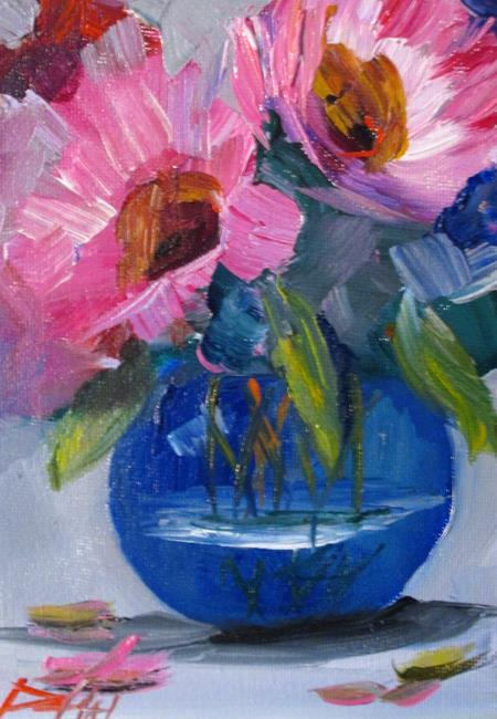 Art: Big Pink Flowers by Artist Delilah Smith