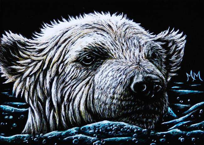 Art: Polar Bear Swim  (SOLD) by Artist Monique Morin Matson