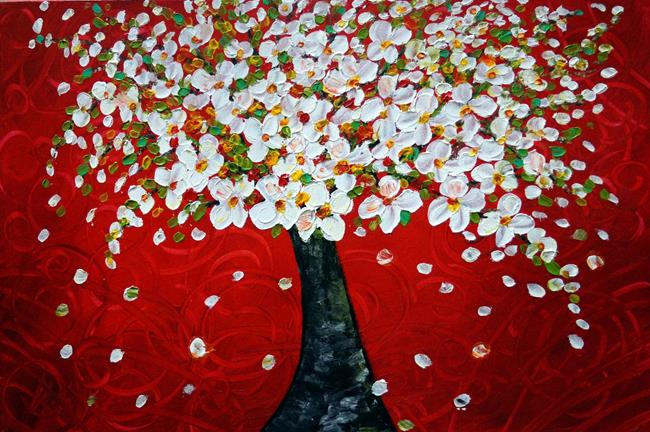 Art: CHERRY TREE by Artist LUIZA VIZOLI