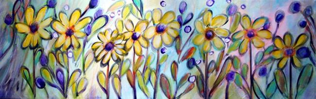 Art: Yellow Flowers.. by Artist LUIZA VIZOLI