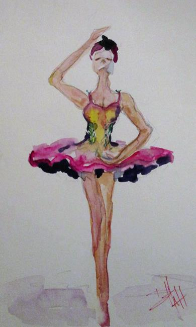 Art: Nutcracker Ballerina by Artist Delilah Smith