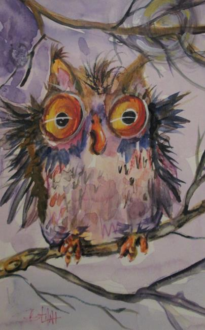 Art: Winter Owl by Artist Delilah Smith