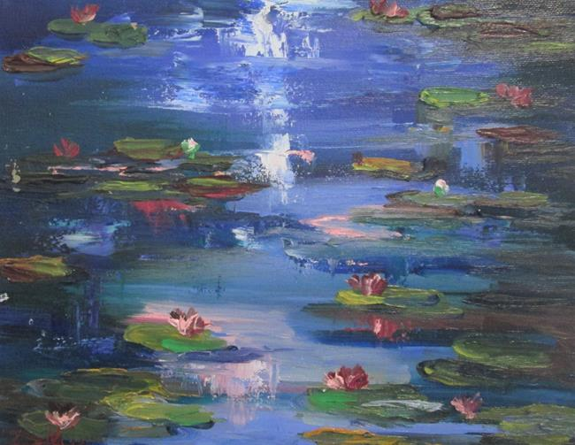 Art: Pond of Lilies No.2 by Artist Delilah Smith
