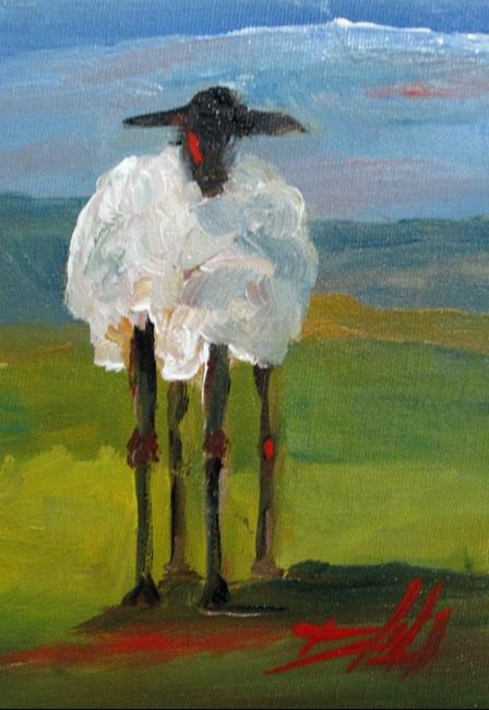 Art: Long Legged Lamb-sold by Artist Delilah Smith