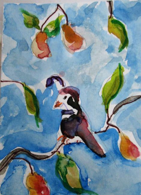 Art: Partridge in a Pear Tree No.4-sold by Artist Delilah Smith