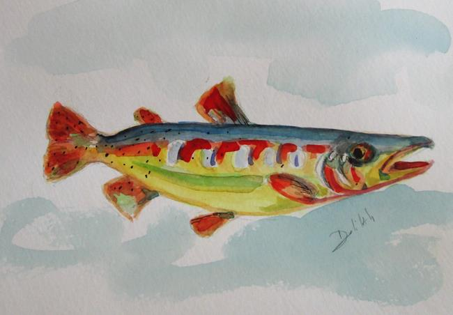 Art: Cutthroat Trout by Artist Delilah Smith