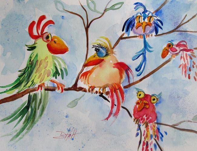 Art: Curious Birds by Artist Delilah Smith