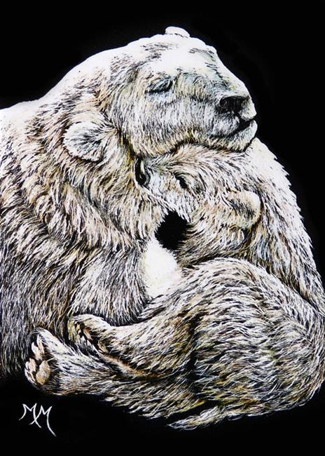 Art: Momma & Babe (SOLD) by Artist Monique Morin Matson