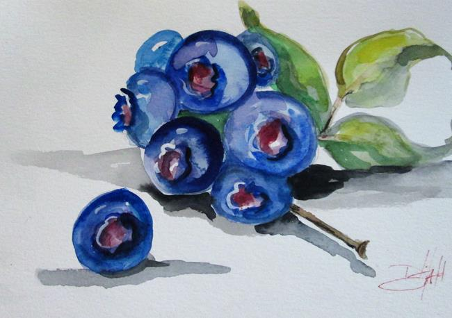 Art: Blueberries No.4 by Artist Delilah Smith