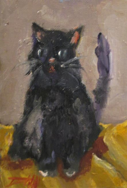 Art: Fluffy Kitty-sold by Artist Delilah Smith