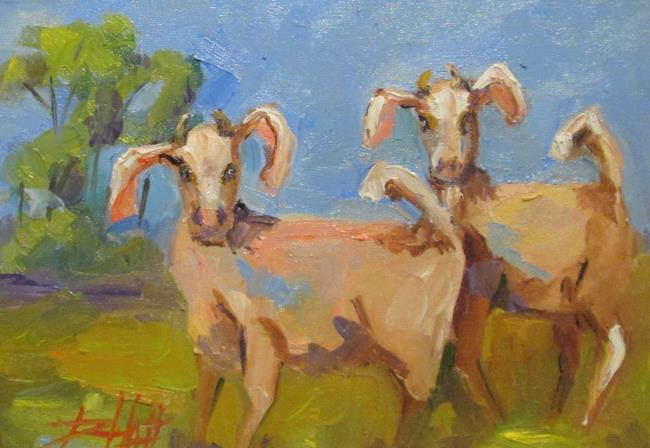 Art: Two Goats by Artist Delilah Smith