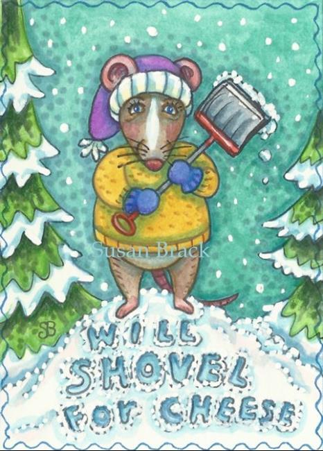 Art: SHOVEL FOR CHEESE by Artist Susan Brack