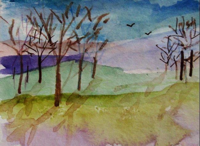 Art: Landscape No.4 by Artist Delilah Smith
