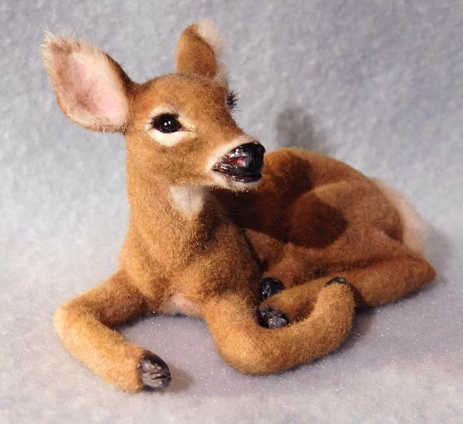 Art: Alpaca Flocked Doe by Artist Camille Meeker Turner