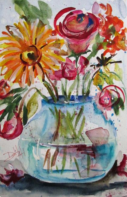 Art: Vase and Flowers No. 2 by Artist Delilah Smith