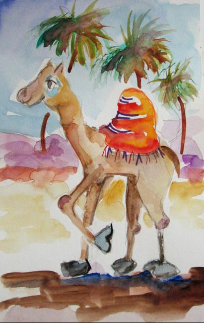 Art: Camel by Artist Delilah Smith