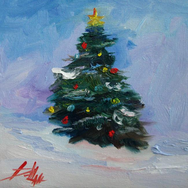 Art: Christmas Pine Tree by Artist Delilah Smith