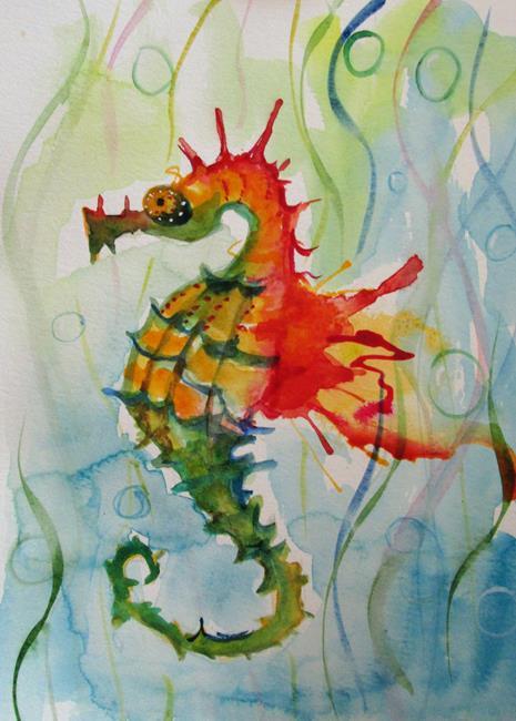 Art: Wild Seahorse No. 2 by Artist Delilah Smith