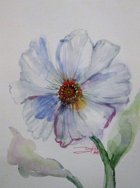 Art: White Cosmos by Artist Delilah Smith