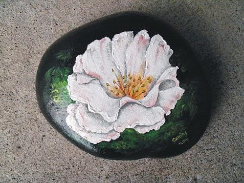 Art: Rock Painting by Artist Leonard G. Collins
