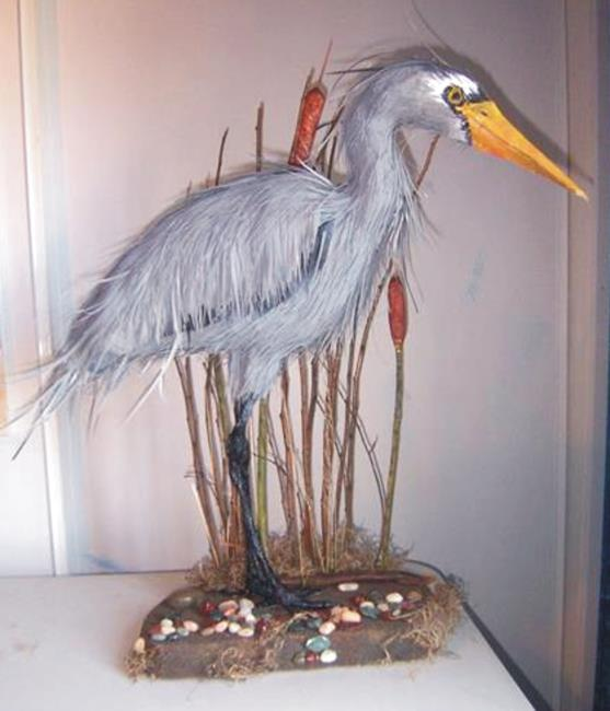 Art: Heron Art by Artist Leonard G. Collins