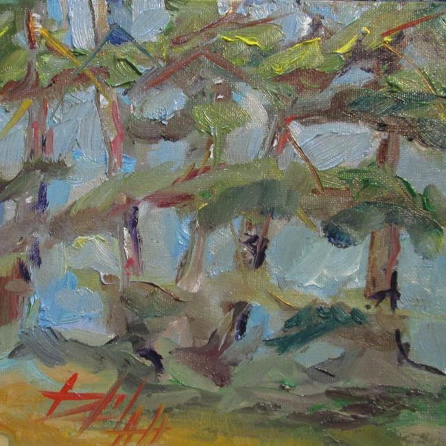 Art: Pine Boughs by Artist Delilah Smith