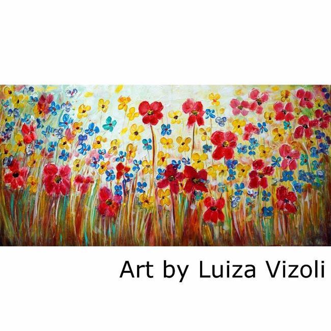 Art: ITALY FLOWERS by Artist LUIZA VIZOLI
