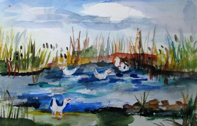 Art: Duck Pond by Artist Delilah Smith