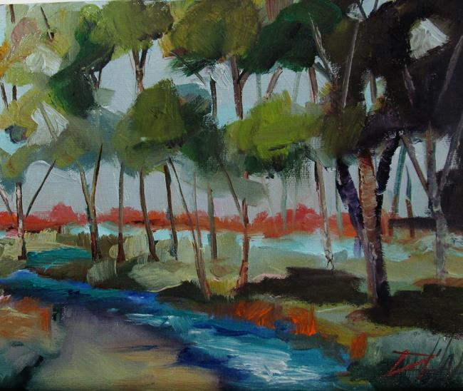 Art: Landscape with River by Artist Delilah Smith