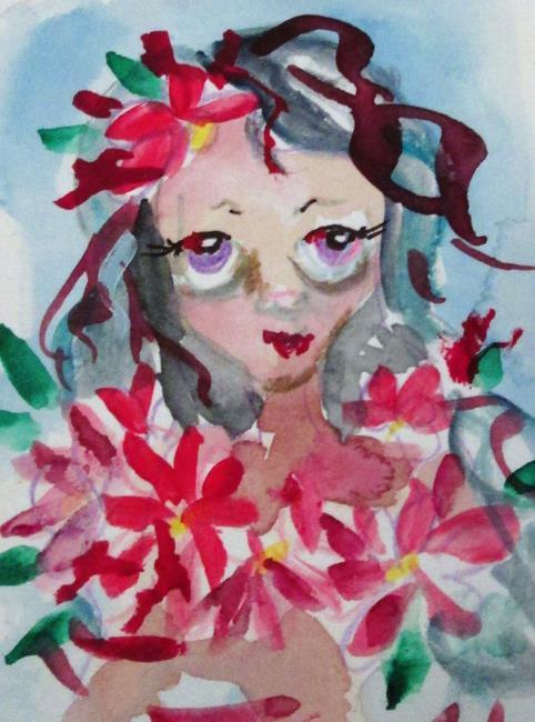 Art: Poinsettia Fairy by Artist Delilah Smith