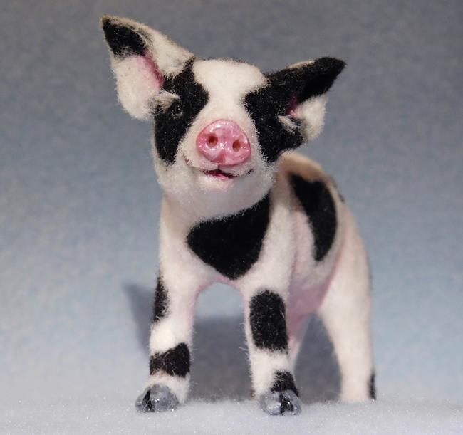 Art: Pig by Artist Camille Meeker Turner
