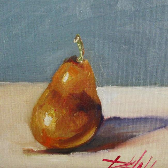 Art: Ripe Golden Pear by Artist Delilah Smith
