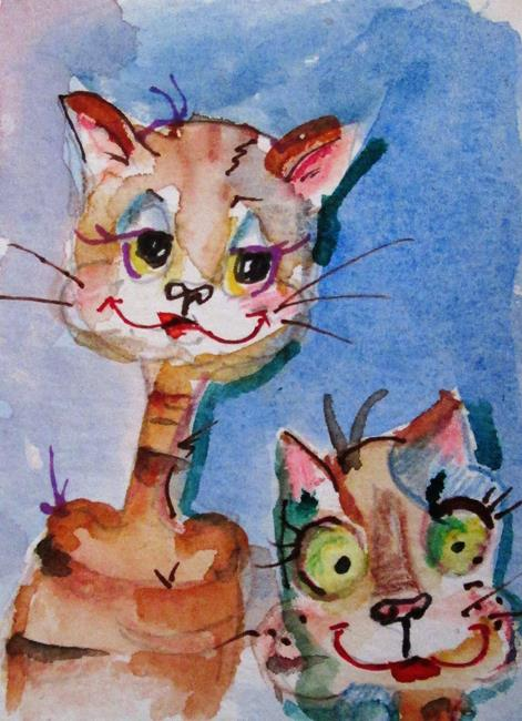 Art: Smiling Cats by Artist Delilah Smith