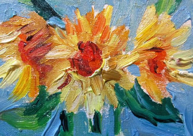 Art: Sunflowers Aceo by Artist Delilah Smith
