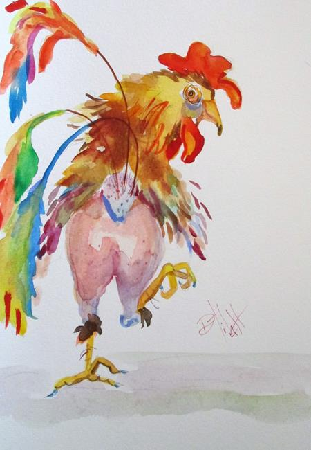 Art: Chicken Trot No. 3 by Artist Delilah Smith