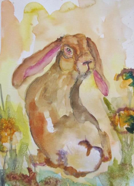 Art: Meadow Rabbit by Artist Delilah Smith