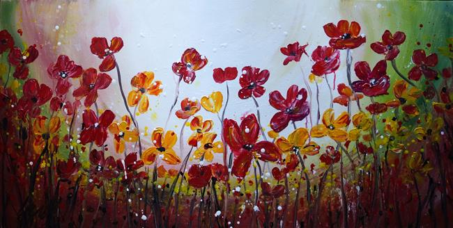 Art: FLOWERS DELIGHTS by Artist LUIZA VIZOLI