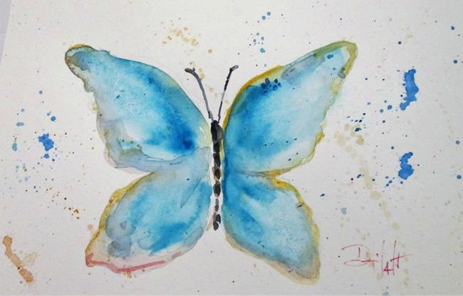 Art: Blue Butterfly by Artist Delilah Smith