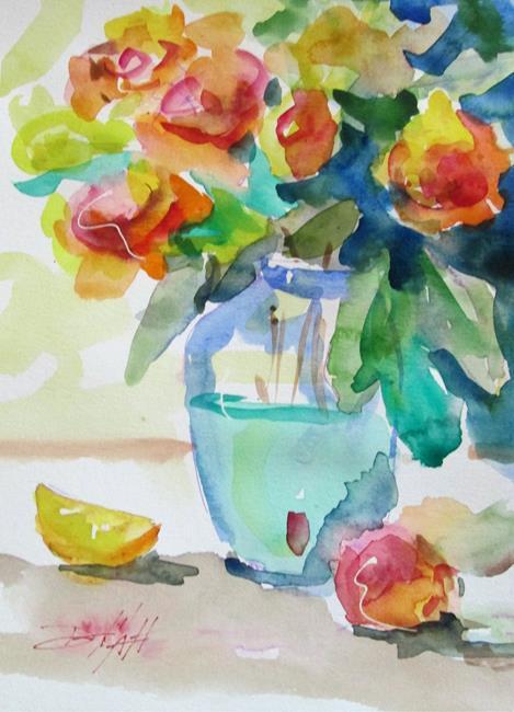 Art: Vase of Flowers Still Life by Artist Delilah Smith