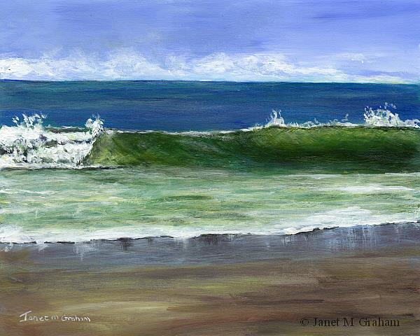 Art: Sandy Reflections by Artist Janet M Graham